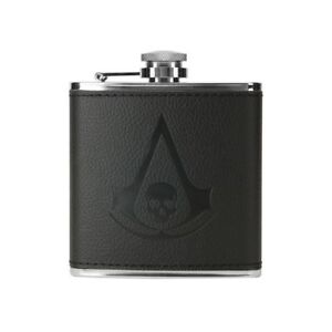 Assassins Creed IV Black Flag Pirate Skull Logo Stainless Steel Flask Brand New