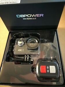 DBPOWER 4K Action Camera 12MP Ultra HD Waterproof Sports Cam with Built-in Wifi
