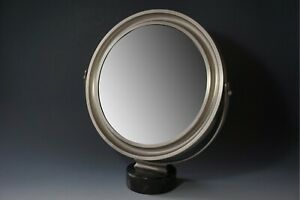 Table Mirror Mirror Narciso 50s Sergio Mazza for Artemide Marble + Steel 1.Z