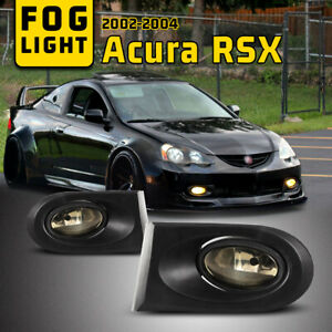 Fits 02 04 Acura RSX Assembly Fog Lights Clear Lens Lamps Wiring KitSwitch $37.74