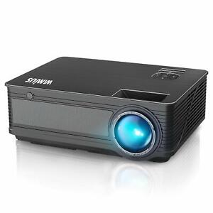 Projector WiMiUS P18 Upgraded 4200 Lumens LED Projector 1080P 200