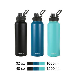 Vacuum Flask, Wide Mouth Stainless Steel Water Bottle with Straw Lid Spout Lid
