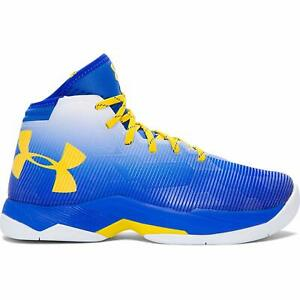 Under Armour UA Stephen Curry Basketball Sneakers 2.5 Blue Yellow Shoes Mens 12