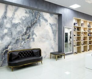 3D Gray Marble A45 Business Wallpaper Wall Mural Self adhesive Commerce Zoe