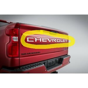 New Generation Silverado Silver Chevrolet Tailgate Decal 84425985 2019 2020 OEM