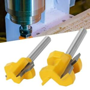 2 pcs Tongue And Groove Set 1/4 Inch Shank Router Bit Set Milling Cutter 3 Teeth