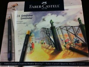 Faber-Castell 24 Goldfaber Creative Studio Quality Color Pencils in Metal Tin