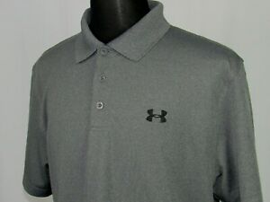 Men's Under Armour Heat Gear Short Sleeved PolyElastane Polo Golf Shirt Large