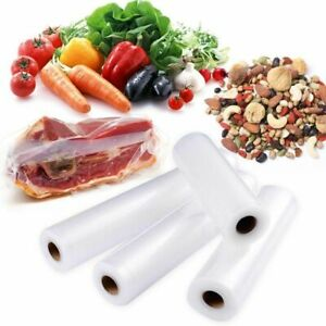 Food Vacuum Bags Sealer Storage Plastic Rolls Fresh Keeping Kitchen Meal Saver