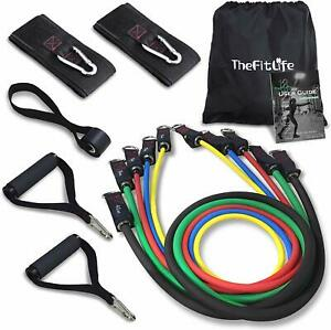 TheFitLife Exercise Resistance Bands with Handles - 5 Fitness Workout Bands up