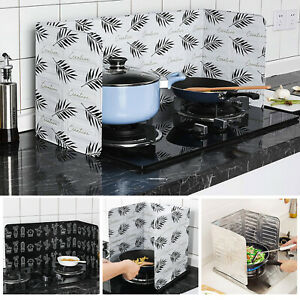 Folding Kitchen Cooking Oil Splash Screen Cover Anti Splatter Stove Shield Guard