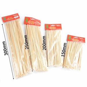 Bamboo Skewers Wooden BBQ Kebab Fruit Chocolate Fountain Stick Party Buffet Food