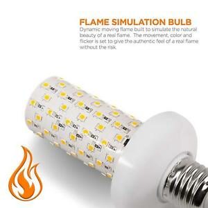 LED Flame Effect Light Bulb 2Pack 4 Modes Flame Light Bulbs with Gravity Sensor