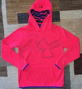 Under Armour Cold Gear Loose Girl's Hoodie Pullover Sweatshirt Size Youth Large