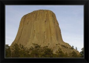 Devils Tower National Monument East Black Framed Wall Art Print Mountain Home