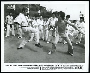 Bruce Lee 1973 Enter The Dragon Kung FU MMA Warner Bros Original Studio Photo