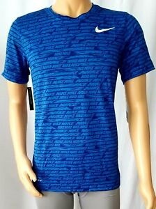 Nike Dry Fit Mens Training Crew Neck T Shirt Blue Size S NEW WITH TAG $16.99