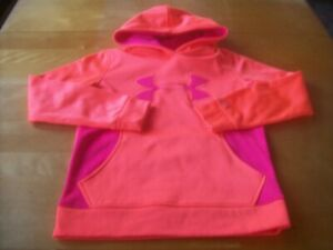 Under Armour melonpink hoodie- girl's size S