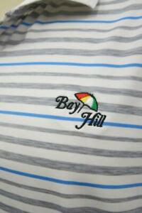 Under Armour Bay Hill Arnold Palmer Striped Golf Polo Shirt Large L