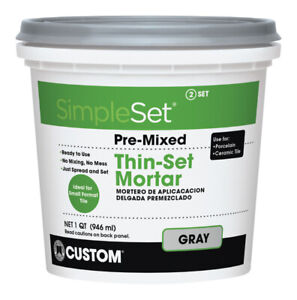 Custom Building Products SimpleSet Gray Thin Set Mortar 1 qt.