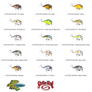 Strike King Crankbait WAKE Square Bill HCKVD2.5W Any 15 Colors Fishing Lures