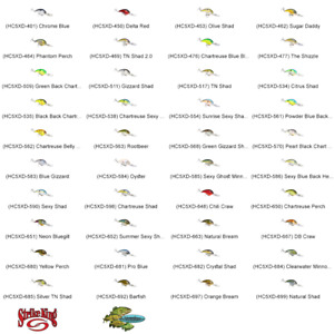 Strike King Crankbait 5XD Deep Diver Rattling Any 40 Colors Pro Model Lures