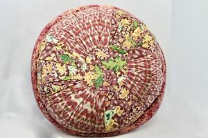 Yoga Meditation Pillow Pouf Zafu Ottoman Floor cushion kapok fill Vintage Batik