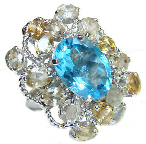 Swiss Blue Topaz Ring size: 8 925 Sterling Silver Free Shipping by SilverRush $125.05