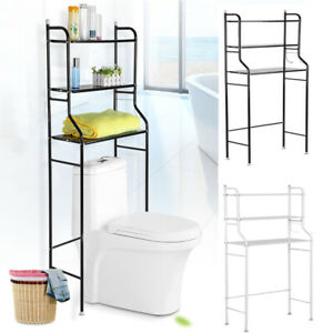 Over The Toilet Bathroom Organizer 3 Shelf Space Saver Metal Towel Storage Rack
