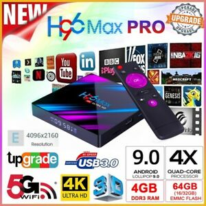 Smart TV BOX H96 MAX RK3318 4K Android 9.0 4GB 64GB Dual WIFI Media Player USPS