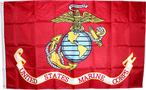 USMC MARINES 12x18 2x3 3x5 150D Nylon Flag UV Protected Waterproof MARINE CORPS