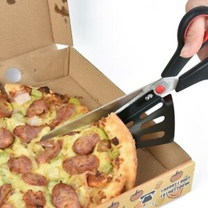 Pizza Scissor Cutter Stainless Kitchen Slicer Knife With Detachable Spatula 28cm $12.49