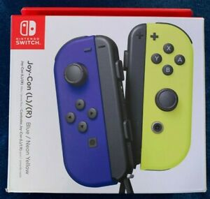 *BRAND NEW* - Nintendo Switch Joy-Con (L/R) Pair Controller Blue/ Neon Yellow