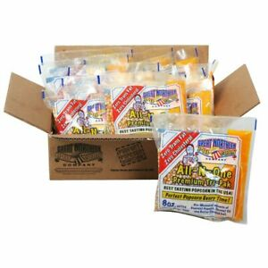 Great Northern Popcorn Premium 8 Ounce Popcorn Portion Packs Case of 12