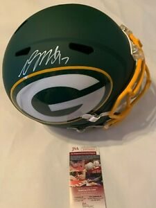Davante Adams Autographed Full Size Green Bay Packers AMP Speed Helmet JSA COA