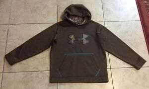 UNDER ARMOUR STORM Brown Camo HOODIE Sweatshirt ~ Youth Boys L Large