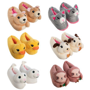 Chatties Fuzzy Cute Stuffed Animal Slippers For Kids Girls Toddler Clothes