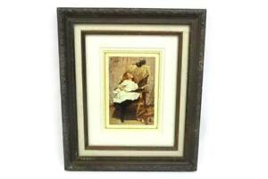 C. Burton Barber Print A RIVAL ATTRACTION Framed And Matted 13.75quot; X 11.75quot; $24.50