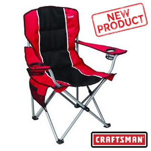 Craftsman Padded Chair Camping Tailgate Sport Events Foam Padding 2 Cup Holder