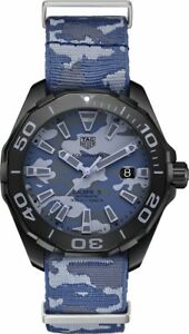 WAY208D.FC8221  Brand New Blue Camouflage TAG Heuer Aquaracer 300M Men's Watch