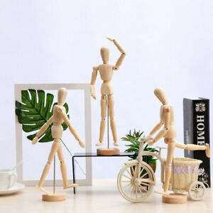 Wooden Manikin Figure Mankind Puppet Toy Pose for Painting Drawing 5.58in