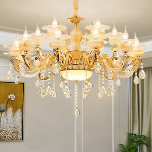 Modern Chandelier Crystal Glass 6-18 head Ceiling Light Fixture Pendant Light