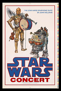 JOHN WILLIAMS ☆ STAR WARS CONCERT MOVIE POSTER ☆ HOLY GRAIL OF PRINTER'S PROOFS!