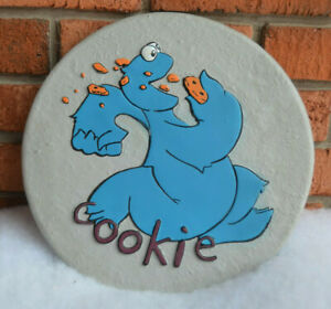 Unique Garden Stepping Stone Wall Hanging COOKIE MONSTER Sesame Street 11 inch $25.00