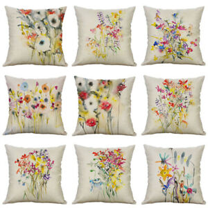 Chinese Home Case Waist painting Linen ink Pillow Cover Cotton New Decor $3.14