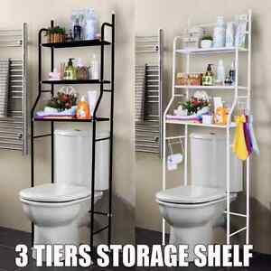3-Tier Over Toilet Space Saver Bathroom Standing Storage Shelf Rack Organizer US
