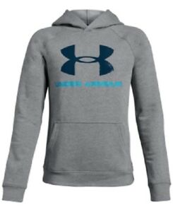 Under Armour Boys' Rival Logo Hoodie Size 8 $30.00