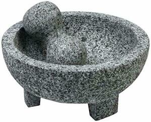 Imusa Granite Mexican Molcajete 6 Inch Mortar and Pestle Kitchen Spice Grinder