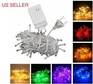 CONNECTABLE 10M 100 LED Christmas Tree Fairy String Party Lights Lamp X#x27;mas