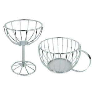 Goblet Teacup Shape Metal Wire Snack Basket Carbon Steel Food Strainer